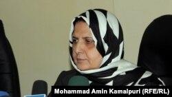 آمنه افضلی وزیر کار امور اجتماعی شهدا و معلولین افغانستان.