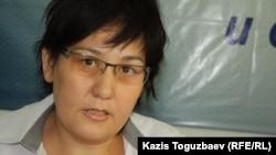 Гражданская активистка Дильнара Инсенова. Алматы, 27 августа 2014 года.