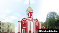 Так храм Росгвардии будет выглядеть после завершения строительства.