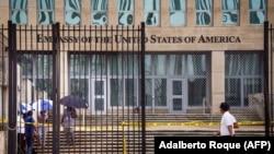 Посольство США на Кубе, сентябрь 2017 года.