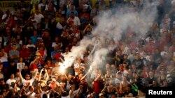 Расейскія фанаты на трыбунах у Марсэлі 11 чэрвеня.