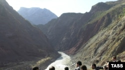 The site of the Roghun hydropower plant in Tajikistan, a point of contention for Uzbekistan.