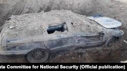 Автомобиль, обнаруженный под землей в Баткенской области.