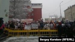 Пикет в Петрозаводске, 2 апреля 2015 года