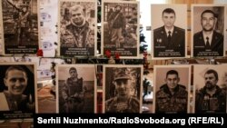 Портрети загиблих захисників Донецького аеропорту за 242 дні його героїчної оборони, Київ, 21 січня 2018 року