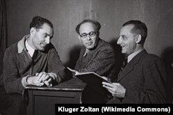Макс Брод (справа)