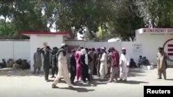 Rude ale persoanelor ucise așteptând lângă spital. Helmand, 23 septembrie 2019