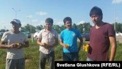 Участники экспедиции «Шындык». Астана, 25 июня 2015 года.