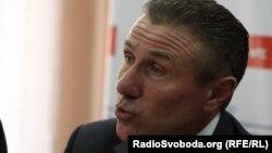 Serghei Bubka la o conferință de presă la Kiev
