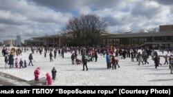 Один из праздников в московском Дворце пионеров на Воробьевых горах
