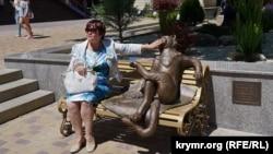 Скульптура «Йошкинкот» в Симферополе, 2 июня 2018 год