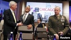 Президент США Барак Обама на саміті НАТО в Чикаго, 21 травня 2012 року
