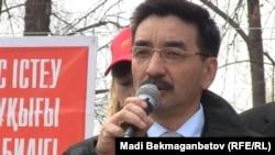Президентшіл Қазақстанның халықтық коммунистік партиясының өкілі, Мәжіліс депутаты Жамбыл Ахметбеков.