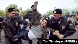 """Задержания на """"Марше миллионов"""" в Москве"""