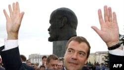 президент России во время визита в Улан-Удэ