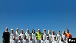 تيم ملي فوتبال بانوان در ورزشگاه آزادي