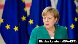 آنگلا مرکل صدراعظم آلمان در نشست بروکسل