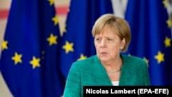 Канцлер Німеччини Анґела Меркель (на фото) та президент Франції Емманюель Макрон проінформували учасників саміту ЄС про стан виконання мінських домовленостей