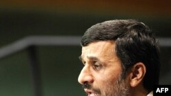 "The United States accused Iranian President Mahmud Ahmadinejad of presenting ""conspiracy theories"" in his speech to the UN General Assembly."