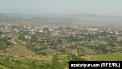 Nagorno-Karabakh - A general view of Stepanakert, 8Jul2011.