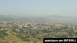 Nagorno-Karabakh - A panoramic view of Stepanakert, 8Jul2011.