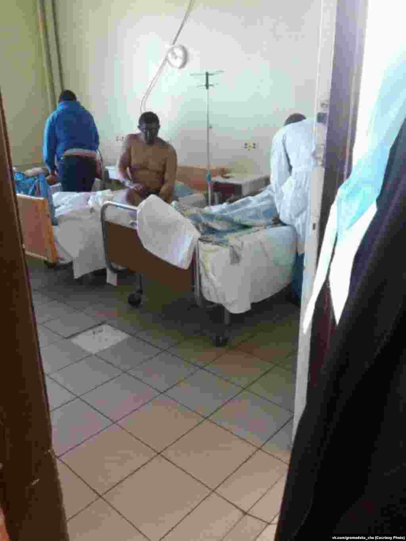 Пострадавший шахтер в больнице