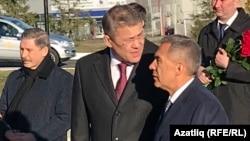 Глава Башкортостана Радий Хабиров, президент Татарстана Рустам Минниханов