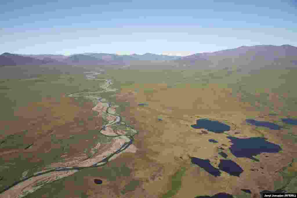 An aerial view of Chaunsky district in the Chukotka Autonomous Okrug