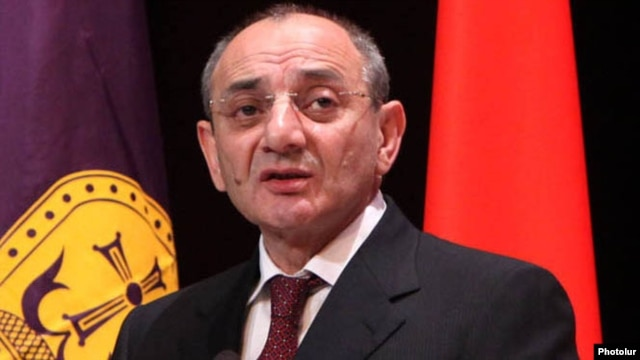 Nagorno-Karabakh - Bako Sahakian, the Karabakh president, gives a speech in Stepanakert.