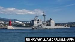 Американський корабель USS Antietam (CG 54) у Південній Кореї, 23 жовтня 2018 року