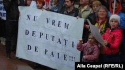 La o acțiune de protest a opoziției