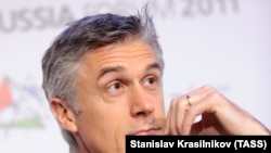 Baring Vostok қорының негізін қалаушы, Kaspi.kz-тің ірі инвесторы Майкл Калви. Мәскеу, 3 ақпан, 2011 жыл.