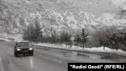 Трасса Душанбе-Чанак зимой