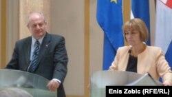 Ministri Vesna Pusić i Ivan Mrkić u Zagrebu, 4. ožujak 2013.