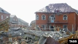 Ingushetian homes destroyed in a search for militants in the restive republic