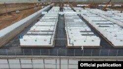 Контейнерный лагерь в Ташкентской области. Фото с сайта Министерства строительства Узбекистана.