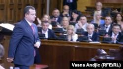 Ивица Дачич в парламенте Сербии