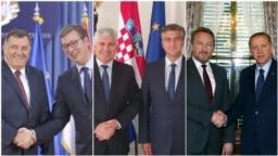 Milorad Dodik i Aleksandar Vučić u Beogradu, Dragan Čović i Andrej Plenković u Zagrebu, Bakir Izetbegović i Recep Tayyip Erdogan u Ankari, fotoarhiv