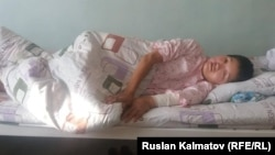 Ооруканада жаткан Нурайым Шайбекова.