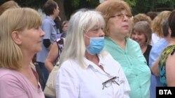 Протест на специалистите по здравни грижи, Ямбол, 15 юли 2019 г.