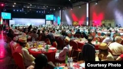 جانب من مؤتمر المعارضة الإيرانية العربية في باريس
