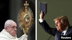 Papa Franjo i Donald Tramp