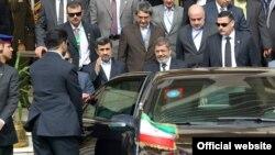 Egjipt – Presidenti i rrëzuar i Egjiptit Mohamed Mursi, gjatë takimit me presidentin iranian Mahmoud Ahmedinejad, 05Shkurt2013