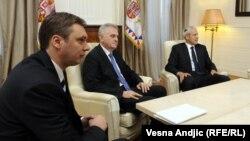 Aleksandar Vučić, Tomislav Nikolić i Boris Tadić