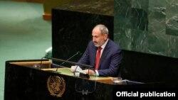 ՀՀ վարչապետ Նիկոլ Փաշինյանը ելույթ է ունենում ՄԱԿ-ի Գլխավոր ասամբլեայում, Նյու Յորք, 25-ը սեպտեմբերի, 2019թ․