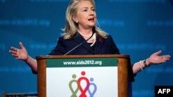 Американскиот државен секретар Хилари Клинтон.