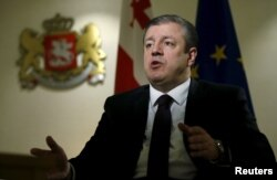 Грузия премьер-министрі Георгий Квирикашвили Reuters агенттігіне сұхбат беріп отыр. Тбилиси, 11 ақпан 2016 жыл.