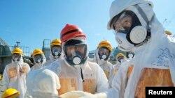 Інспэкцыя на АЭС у Фукусіме ў жніўні 2013