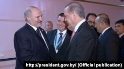 Аляксандар Лукашэнка і Рэджэп Эрдаган