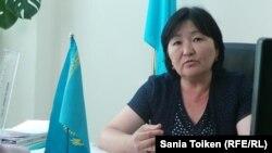 Жаңаөзен қалалық жұмыспен қамту және әлеуметтік бағдарламалар бөлімінің бастығы Балзира Маркашова. 29 мамыр 2014 жыл.